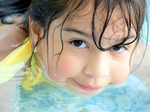 Emma, Memorial Day 2009, May, swimming, pool, backyard 064